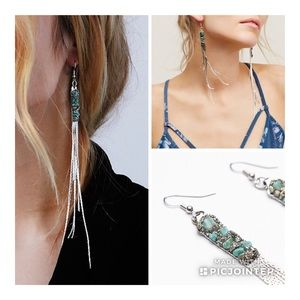 EUC🦋Rare Free People Turquoise/Silver Dusters